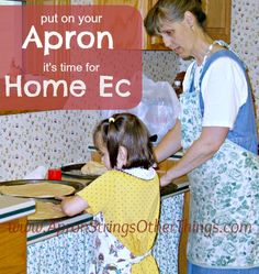 Put on an Apron, it's Time for Home Ec! - and get my pizza recipe, too! at Apron STrings & other things