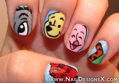 winnie 2 pooh nail art