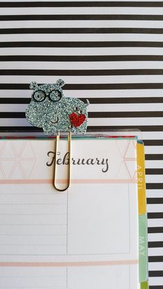 Hippo plannerclip/paperclip/bookmark by PaperMyLife on Etsy