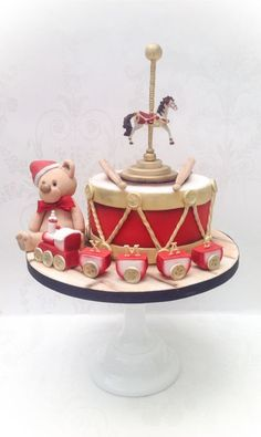 Charity Christmas cake Vintage Toys