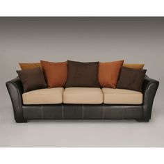 earth tone sofa