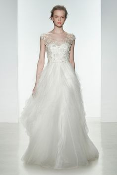 A gorgeous, cloud-like dress for a unique bride | The 25 Most-Pinned Wedding Dresses of 2014 | Gown by Christos