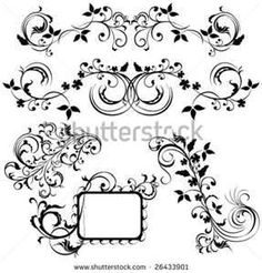 Abstract Tattoo Style Design Element Stock Vector 26433901