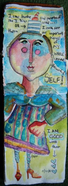 Ardith's Art Journal: Embracing My Ugly Art Journal Page  Yes, I think we should all embrace our ugly every now and then, ;)
