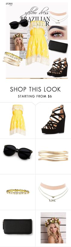 """yellow dress"" by ava-r-johnson on Polyvore featuring Christophe Sauvat, Charlotte Russe, Lane Bryant, BillyTheTree and Aéropostale"