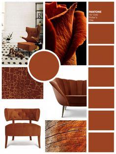 Los colores tendencias de Otoño 2016 según PANTONE aplicadas a su decoración interior.