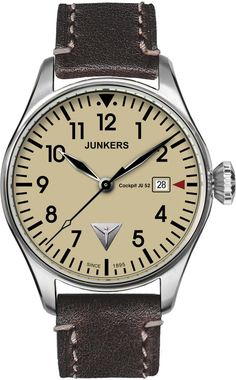 Junkers Watch Cockpit JU52 #2015-2016-sale #bezel-fixed #black-friday-special #bracelet-strap-leather #brand-junkers #case-material-steel #case-width-40mm #classic #date-yes #delivery-timescale-1-2-weeks #dial-colour-cream #gender-mens #movement-quartz-battery #official-stockist-for-junkers-watches #packaging-junkers-watch-packaging #sale-item-yes #style-dress #subcat-cockpit-ju52 #supplier-model-no-6144-5 #vip-exclusive #warranty-junkers-official-2-year-guarantee #water-resistant-50m