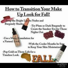 ⭐️Great tips for how to transition your makeup look into fall!   www.bebeautifulwithbrittany.com  #younique