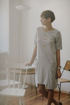 Summer ZOE /g r e y/ - PulpaDesign - Sukienki midi