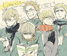 do u see what they did? (they all have glasses except sweden)