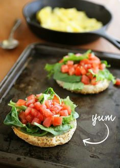 Open-Faced Bagel Breakfast Sandwich - A healthy, protein-packed breakfast made easy. Add your favorite toppings! Thecomfortofcooking.com
