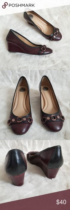 2fc4a9c1f8f96 Nurture wedges red   black with rose gold size 7 Excellent used condition  nurture wedges!