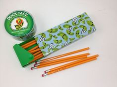 Tutorial: Duck Tape Pencil Box! #backtoschool
