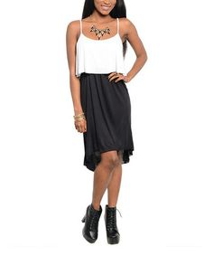 Another great find on #zulily! Black & White Two-Tone Hi-Low Dress #zulilyfinds