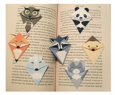 Animal bookmarks.