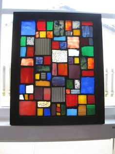 Stained Glass Mosaic Art. $65.00, via Etsy.