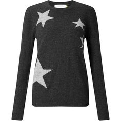 Collection WEEKEND by John Lewis Falling Star Intarsia Jumper,... ($60) ❤ liked on Polyvore featuring tops, sweaters, long sleeve sweater, metallic top, star print top, star print sweater and print sweater