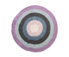 Alfombra Crochet Rosa Pastel