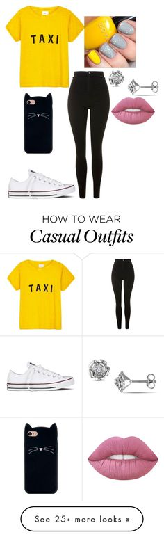 """""""Casual beauty"""" by hannarules37 on Polyvore featuring Compañia Fantastica, Topshop and Converse"""