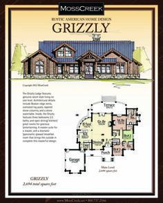 MossCreek.net Rustic American Home Design   Log Cabin, Log Home,. Rustic House  PlansCabin ...