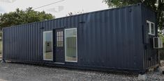 40 ft Container - The Elgin Model - Drywall / 20 ft Deck w/ Stairs / Tile Shower
