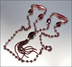 Czech Glass Art Deco Necklace Sautoir Flapper