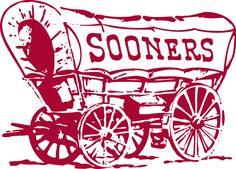 oklahoma sooner logo | Oklahoma Sooners Primary Logo (1952) - Sooner Scooner - maroon covered ...