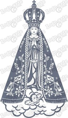 Imagem vetorial de Nossa Senhora Aparecida para cortar em plotter.