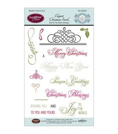 JustRite Papercraft Clear Stamp Set 4
