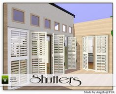 Shutters by Angela  http://www.thesimsresource.com/downloads/941006