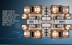 Kat planları 3 House Layout Plans, House Layouts, House Plans, Plans Architecture, Architecture Design, Residential Building Plan, Hotel Floor Plan, 2 Storey House Design, Architectural Floor Plans