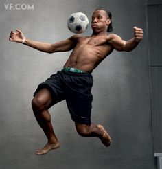 """World Cup Stars """"Playing for the World"""" Didier Drogba, from Ivory Coast, photo by Annie Leibovitz for Vanity Fair Action Pose Reference, Human Poses Reference, Pose Reference Photo, Body Reference, Action Poses, Anatomy Reference, Art Poses, Drawing Poses, Foto Sport"""