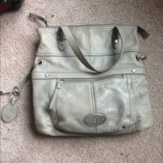 Fossil hobo style bag TRADE or sell Slight discoloration but not too noticeable very great bag good condition :) Fossil Bags Hobos