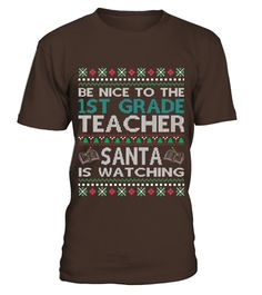 # Men S Be Nice To The 1st Grade Teacher Santa Is Watching T-shirt Xl Asphalt .    COUPON CODE    Click here ( image ) to get COUPON CODE  for all products :      HOW TO ORDER:  1. Select the style and color you want:  2. Click Reserve it now  3. Select size and quantity  4. Enter shipping and billing information  5. Done! Simple as that!    TIPS: Buy 2 or more to save shipping cost!    This is printable if you purchase only one piece. so dont worry, you will get yours…