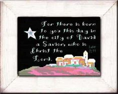 Easy frame sizes, no custom framing necessary. Personalized Names, Baby gifts, Grandchildren gifts, Friendship gifts . Stitch a gift of encouragement and praise. Free charts and Stitching Instructions. Easy Frame, 10 Frame, Cross Stitch Kits, Cross Stitch Designs, Luke 2 11, Lucas 2, David, Friendship Gifts, Cross Stitching