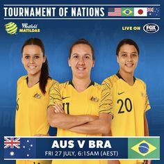 Hayley Raso #16, Lisa De Vanna #11 and Sam Kerr #20, AusWNT Fox Sports, Matilda, Soccer, Football, Woman, Futbol, Futbol, European Football, Women