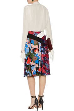 Pleated printed satin-twill skirt | EMILIO PUCCI | Sale up to 70% off | THE OUTNET