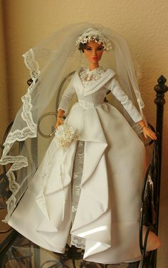 bridal doll weddings barbie gowns  1...2 qw