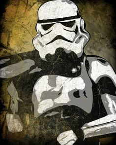 Star Wars Sand Trooper Pop Art Print 8 x 10 by cutitoutart on Etsy, $10.00