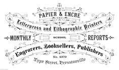 Vintage Advert French shabby chic transfer/sticker decoupageTypography