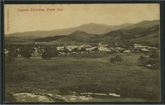 Panorama of Naguabo, Puerto Rico ~ Vintage Postcard, ca. Vintage Postcards, Vintage Photos, Puerto Rican Cuisine, Puerto Rico History, Puerto Rican Culture, Puerto Ricans, Where The Heart Is, Old Photos, Paris Skyline