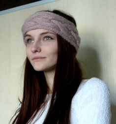 Hair bands for women Earwarmer cable headband Gift for her