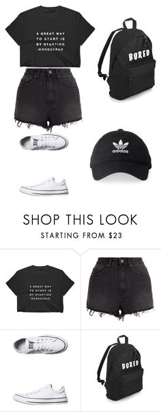 """""""Untitled #6"""" by nesiv ❤ liked on Polyvore featuring Ksubi, Converse and adidas"""