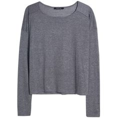 Mango Long Sleeved T-Shirt (£18) ❤ liked on Polyvore featuring tops, sweaters, shirts, long sleeves, medium grey, extra long sleeve shirts, sleeve shirt, relaxed fit shirt, long sleeve shirts and grey top
