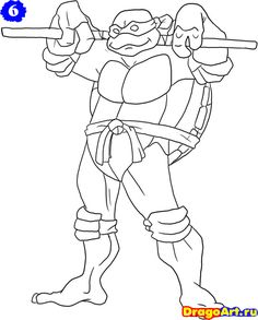 Katana Blades is Leonardo Weapon of Choice Coloring Page Free