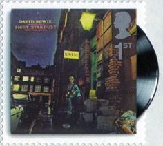 Classic Album Covers 1st Stamp (2010) David Bowie - The Rise and Fall of Ziggy Stardust and the Spiders from Mars