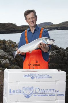 New photo shoot - new pic of our Sales Director, Andy Bing holding a Loch Duart salmon