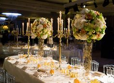 Beautiful blooms make the perfect table decorations
