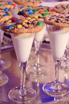 Milk and cookie treats as a fun drink related wedding favors idea. #MyOnlineWeddingHelp