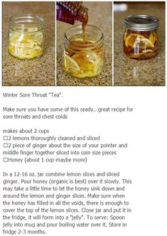 DIY All-natural Sore Throat Remedy